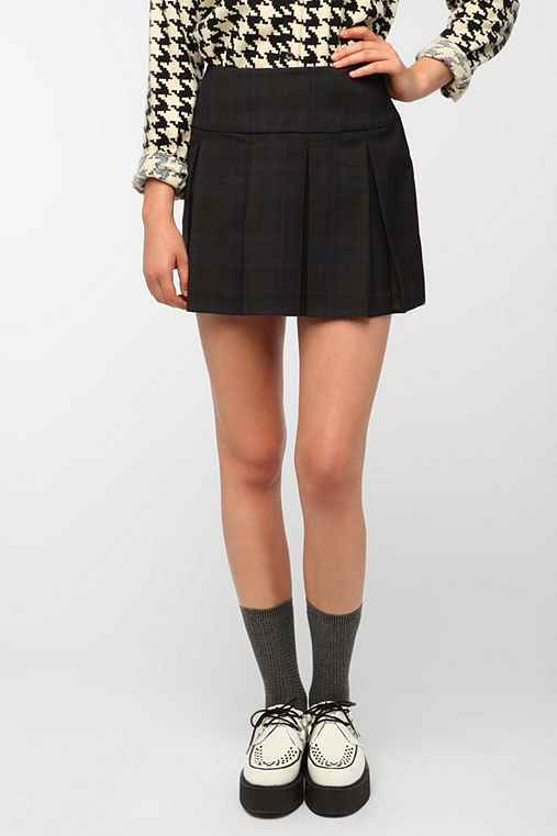 BB Dakota Makayla Plaid Pleated Skirt