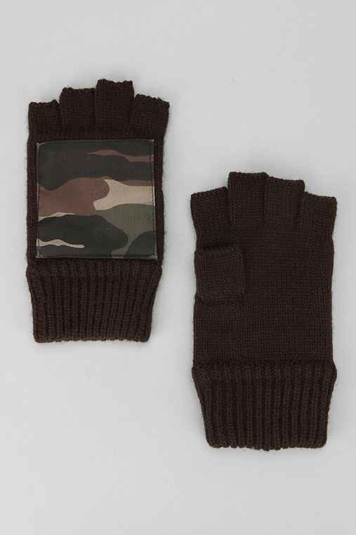 Fingerless Pattern Patch Glove