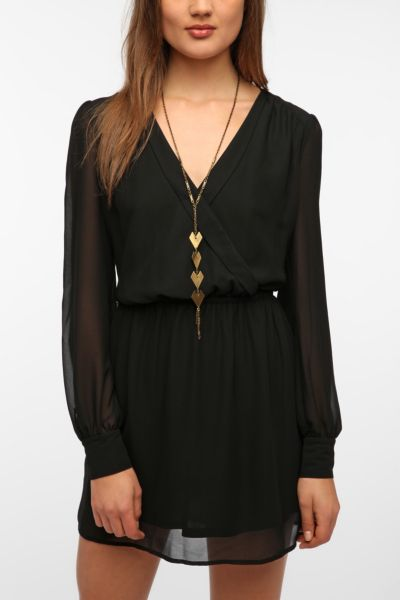 Coincidence & Chance Chiffon Surplice Dress