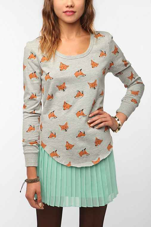 Truly Madly Deeply Printed Dolman Sweatshirt