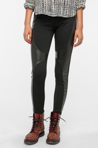 Sparkle & Fade Ponte Knit and Faux Leather Legging