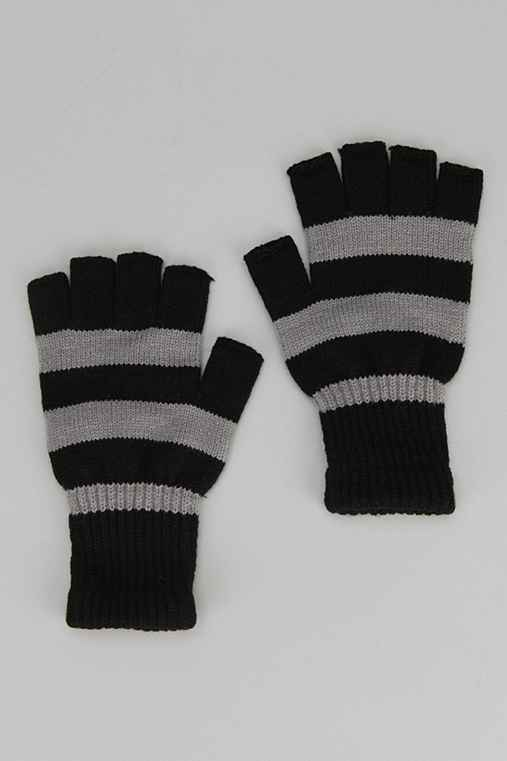 Rugby Stripe Fingerless Glove
