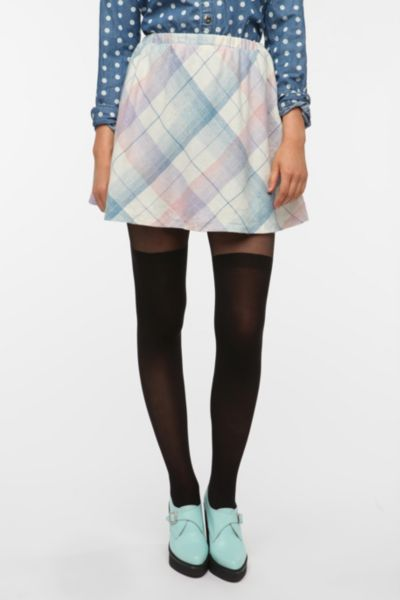 Urban Renewal Wool Plaid Mini Skirt