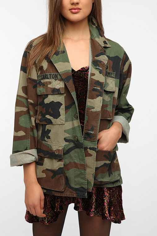 Urban Renewal Vintage Oversized Camo Jacket