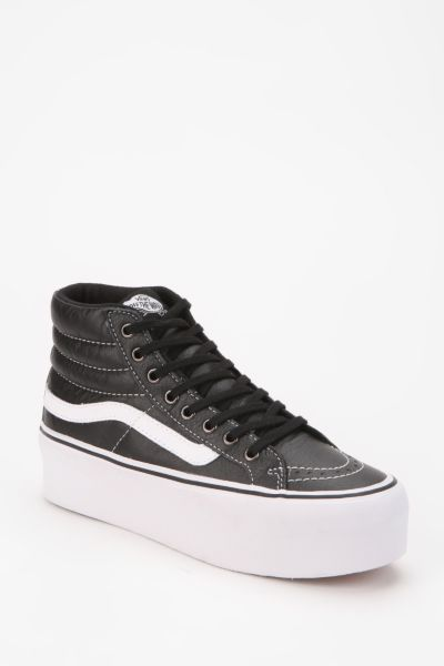 Vans SK8 Leather High-Top Flatform-Sneaker