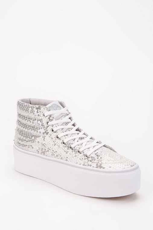 Vans Sk8-Hi Sequin Women's High-Top Flatform-Sneaker