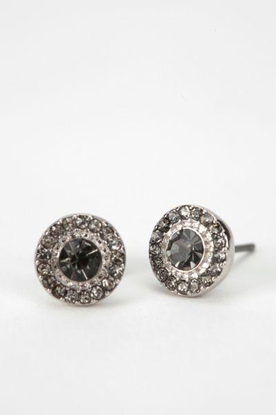 Silver Lining Rhinestone Earring