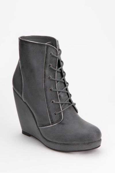 Deena & Ozzy Lace-Up Wedge Boot