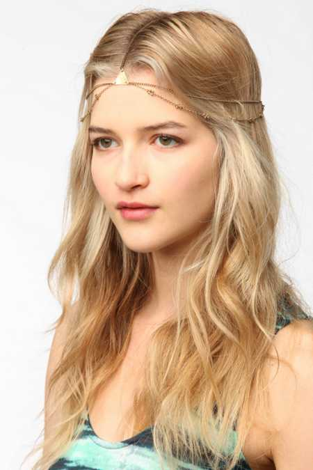 Geo Metal Goddess Chain Headwrap