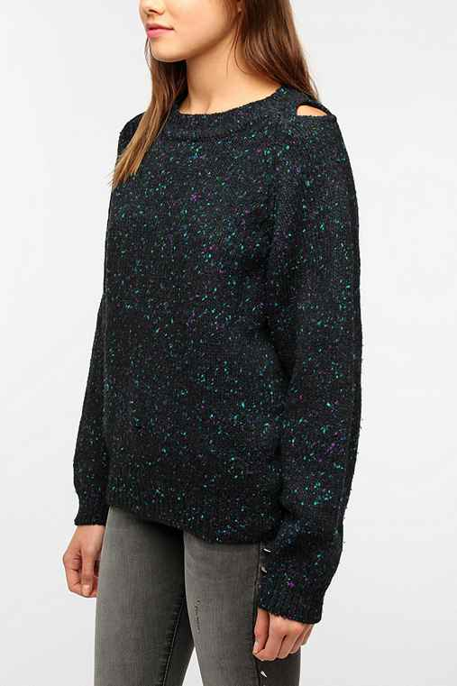 Urban Renewal Shoulder Slit Sweater