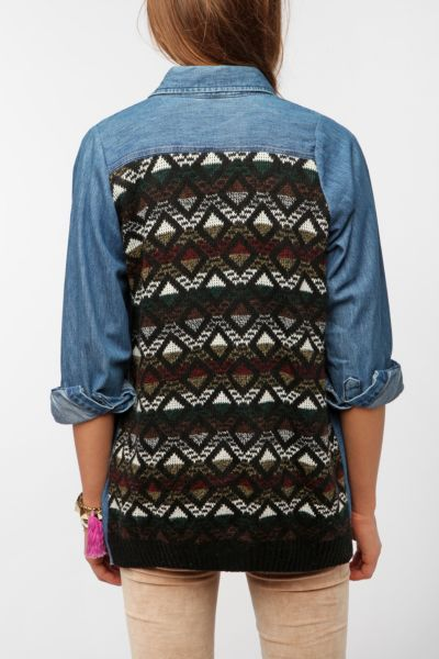 Urban Renewal In The Mix Denim Shirt