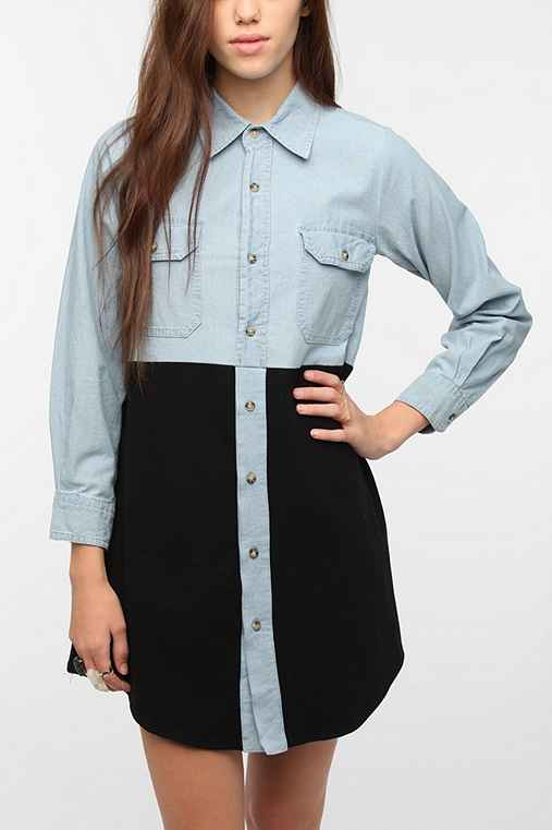 Urban Renewal Chambray and Jersey Dress