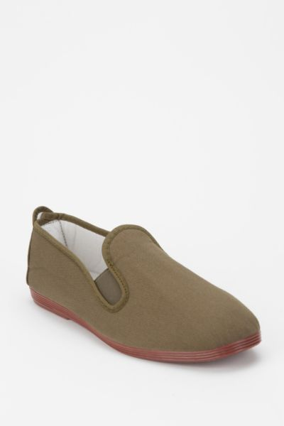 Flossy Canvas Slip-On Sneaker