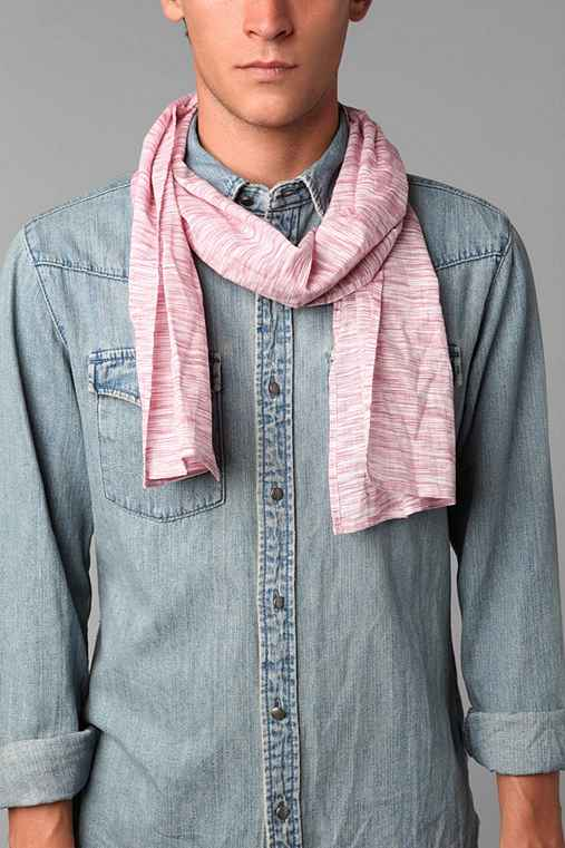 Lightweight Candy Stripe Scarf