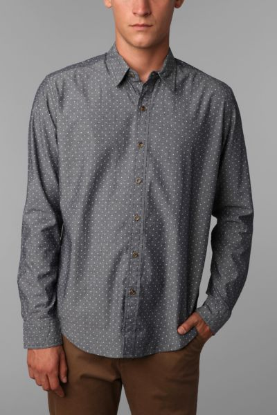 Your Neighbors Polka Dot Chambray Shirt