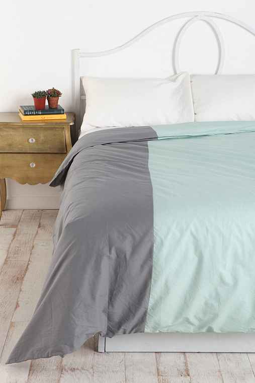 Assembly Home Block-Stripe Patchwork Duvet Cover