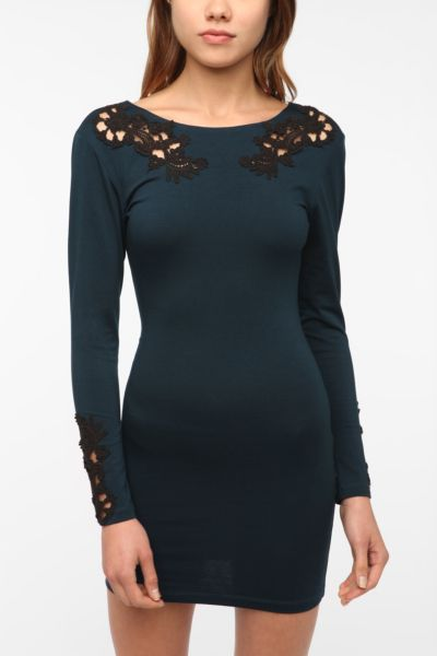 Motel Gina Lace Cutout Bodycon Dress