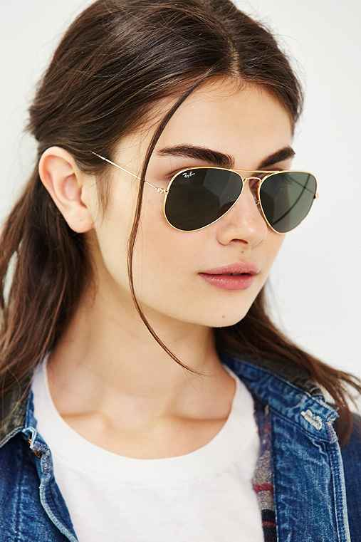 Ray-Ban Original Aviator Sunglasses,GOLD,ONE SIZE