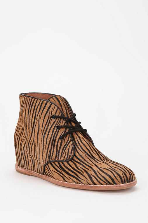Matiko Sharon Zebra Wedge Ankle Boot