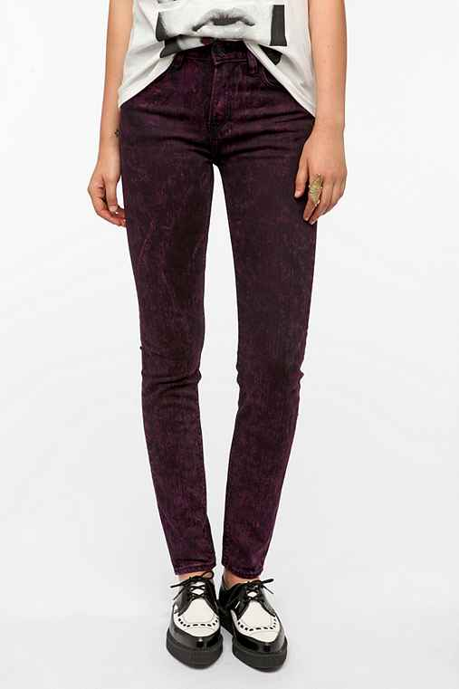 WeSC Lizzy Skinny Jean - Purple Acid Wash