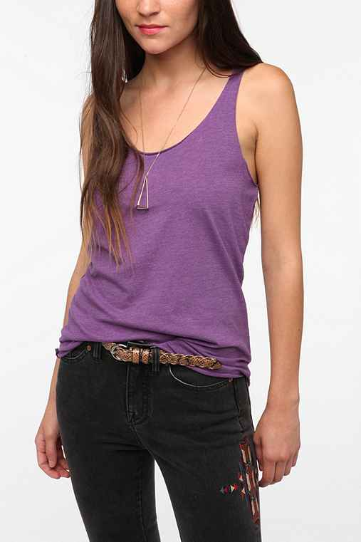 BDG Solid Shirttail Scoop Tank Top