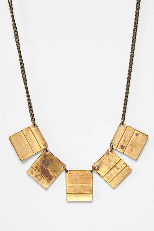Metal Ista x Urban Renewal Square Plate Necklace