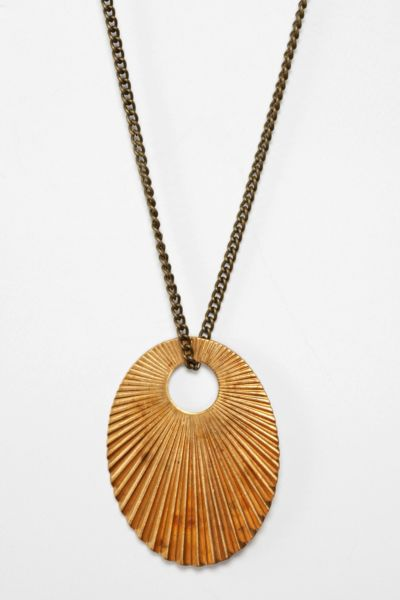 Metal Ista x Urban Renewal Oval Metal Necklace