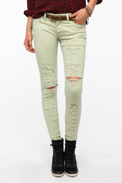 BLANKNYC Destructed Skinny Ankle Jean