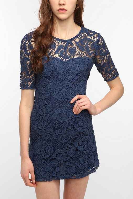 Sparkle & Fade Lace Trompe L'oeil Dress