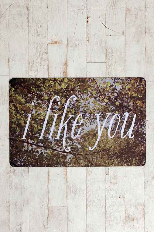 I Like You Trompe L'Oeil Floor Mat