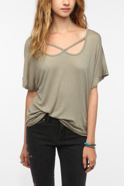 Daydreamer LA Collar Cutout Tee