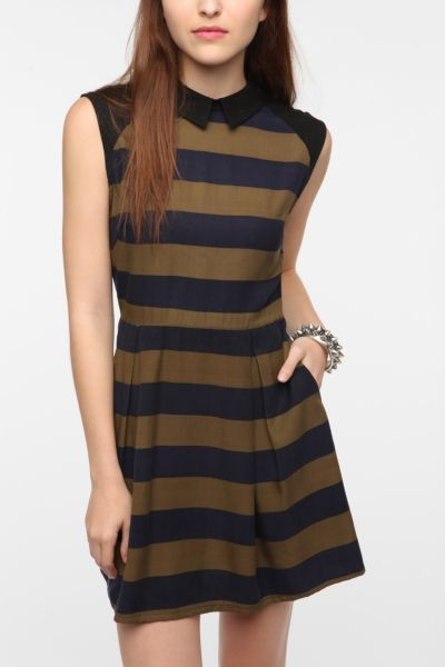 WeSC Striped Sleeveless Shirtdress