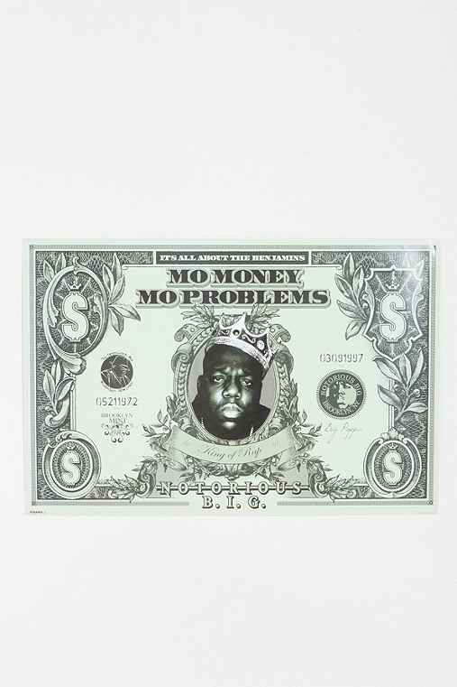 Biggie Dollar Bill Poster