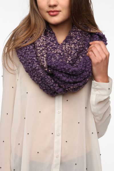 Staring at Stars Foil Boucle Eternity Scarf