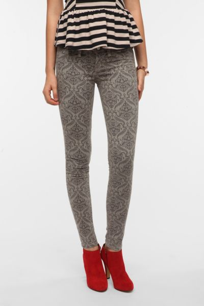 SOLD Design Lab Damask Print Skinny Jean
