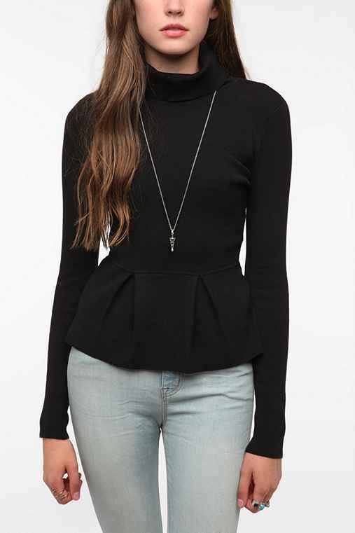 Pins And Needles Turtleneck Peplum Sweater