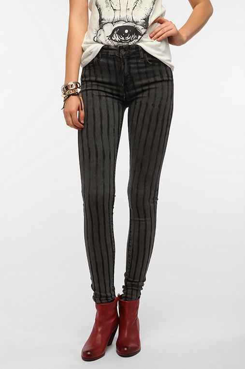 Kill City Striped Twill Skinny Jean