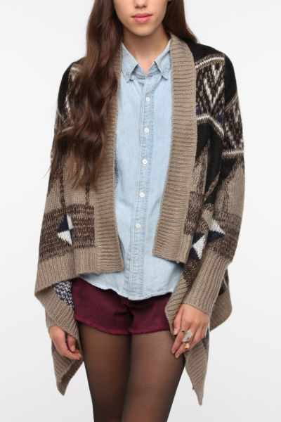 Jack By BB Dakota Geo Print Cardigan