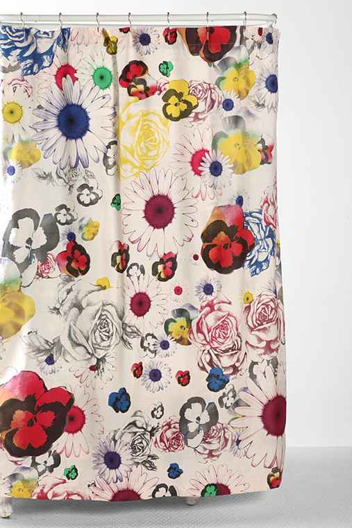 Plum & Bow Cher Floral Shower Curtain