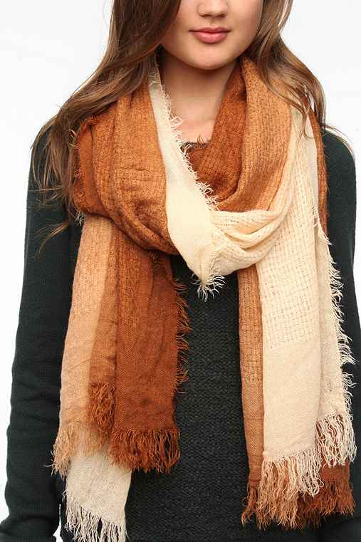 Pins and Needles Ombre Fringe Scarf