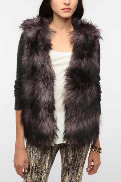 Ecote Faux Fur Woodland Cardigan