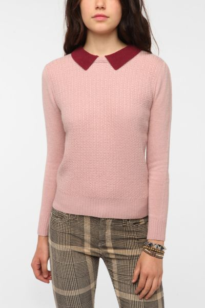 Cooperative Contrast Collar Pullover Sweater