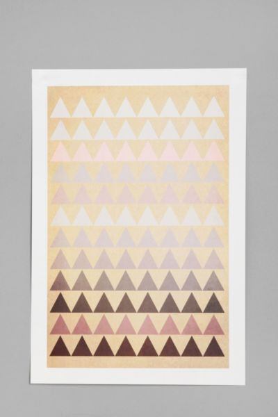 Sandra Arduini For Society6 Muted Triangle Print