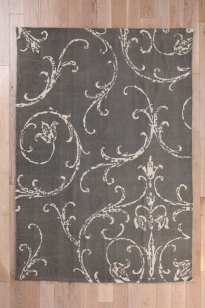 Plum & Bow Filigree Scroll Rug