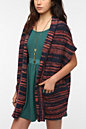 Ecote Mitred Stripe Belted Cardigan