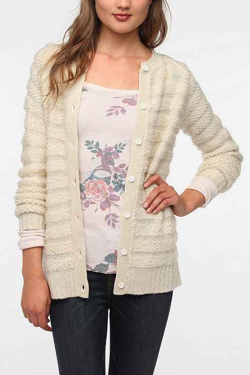 Silence & Noise Loop-Stitch Cardigan