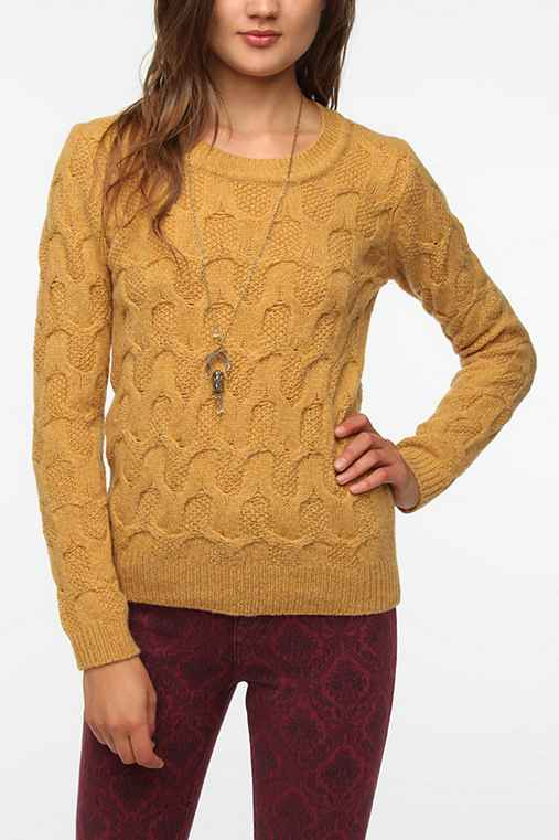 Pins and Needles Honeycomb Sweater