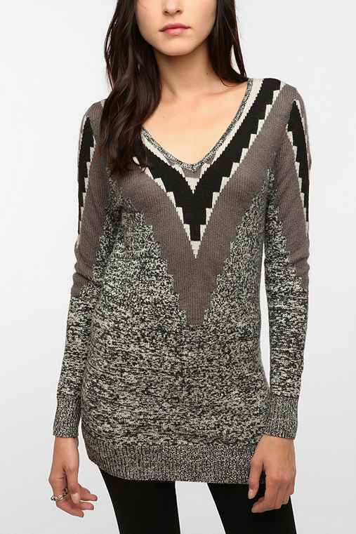 Silence & Noise Deep V-Back Sweater