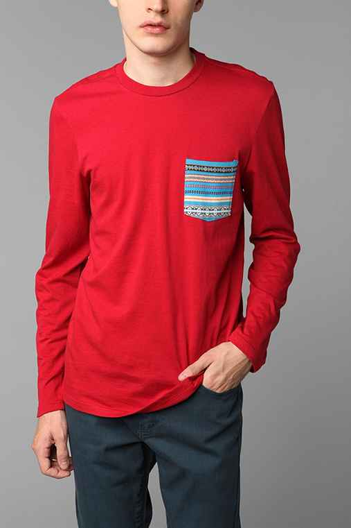 Koto Long-Sleeved Jacquard Pocket Tee