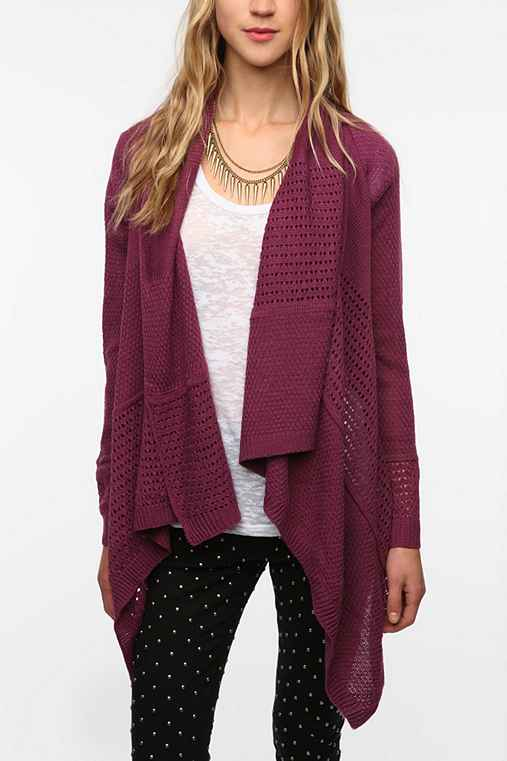 byCORPUS Mix Stitch Open Cardigan